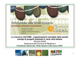 La missione dell'OMS - organizzazione mondiale della sanità:
