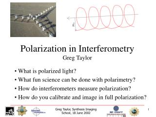 Polarization in Interferometry Greg Taylor