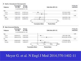 Meyer G. et al. N Engl J Med 2014;370:1402-11