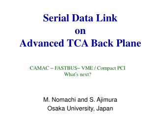 Serial Data Link  on Advanced TCA Back Plane