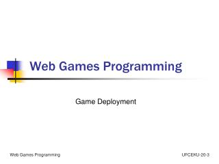 Web Games Programming