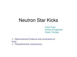 Neutron Star Kicks