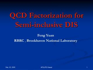 QCD Factorization for Semi-inclusive DIS