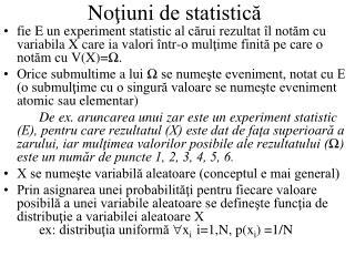 No ţiuni de statistică