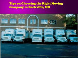 Tips on Choosing the Right Moving Company in Rockville, MD