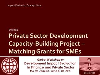 Private Sector Development Capacity-Building Project – Matching Grants for SMEs