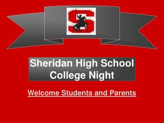 Sheridan High School College Night