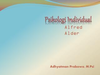Psikologi Individual