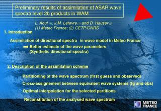 Preliminary results of assimilation of ASAR wave  spectra level 2b products in WAM