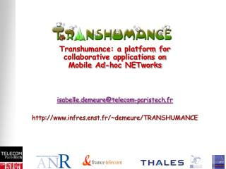 Transhumance: a platform for collaborative applications on  Mobile Ad-hoc NETworks