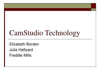 CamStudio Technology