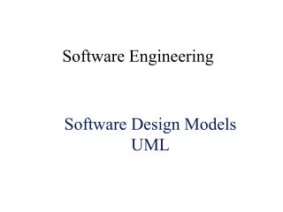 Software Design Models UML