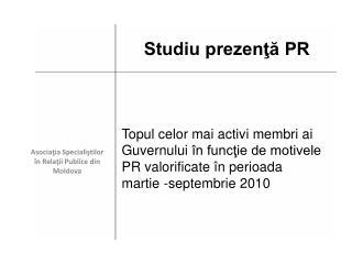 Asociaţia Specialiştilor în  R elaţii P ublice din Moldova