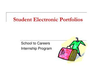 Student Electronic Portfolios