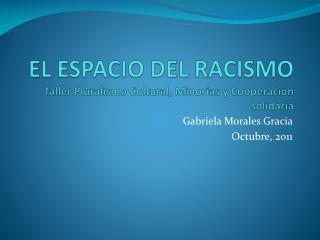 EL ESPACIO DEL RACISMO Taller Pluralismo Cultural, Minorías y Cooperación solidaria