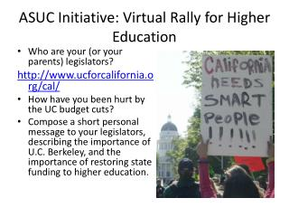 ASUC Initiative: Virtual Rally for Higher Education