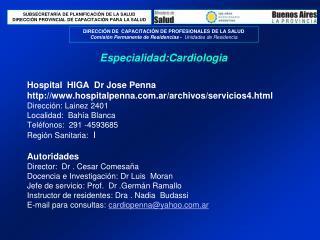 Hospital  HIGA  Dr Jose Penna http: