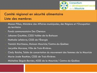 Manon Filion, Minist�re des Affaires municipales, des R�gions et l�Occupation du territoire
