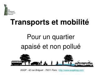 Transports et mobilité