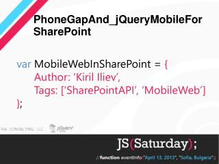 PhoneGapAnd_jQueryMobileForSharePoint