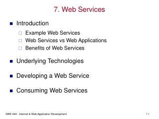 7. Web Services
