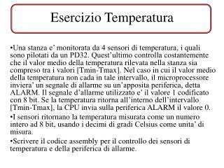 Esercizio Temperatura