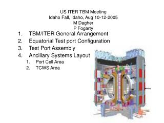 US ITER TBM Meeting Idaho Fall, Idaho, Aug 10-12-2005 M Dagher P Fogarty