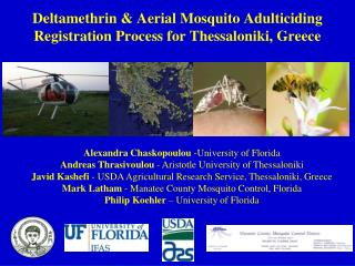 Deltamethrin & Aerial Mosquito Adulticiding Registration Process for Thessaloniki, Greece