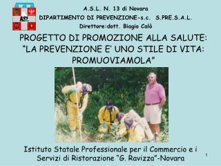 """Istituto Statale Professionale per il Commercio e i Servizi di Ristorazione """"G. Ravizza""""-Novara"""