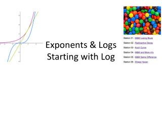 Exponents & Logs Starting with Log