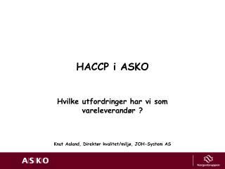 HACCP i ASKO