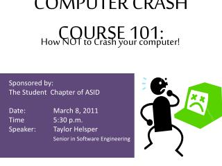COMPUTER CRASH COURSE 101: