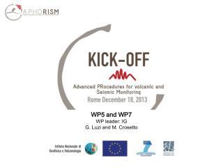 WP5 and WP7 WP leader: IG G. Luzi and M. Crosetto