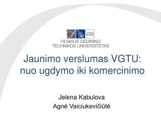 Jaunimo verslumas VGTU: nuo ugdymo iki  komercinimo