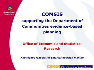 COMSIS supporting the Department of Communities evidence-based planning
