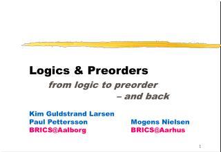 Timed Logics .....