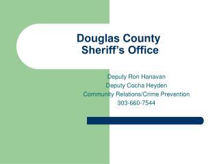 Douglas County  Sheriff s Office