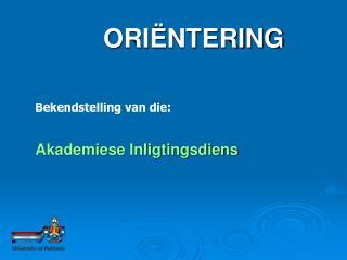 ORI�NTERING