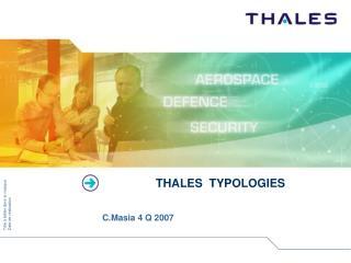 THALES  TYPOLOGIES