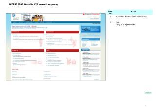 ACCESS IRAS Website VIA  iras.sg