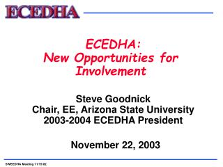 ECEDHA: New Opportunities for Involvement