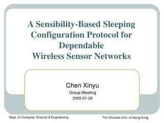 A Sensibility-Based Sleeping Configuration Protocol for Dependable  Wireless Sensor Networks
