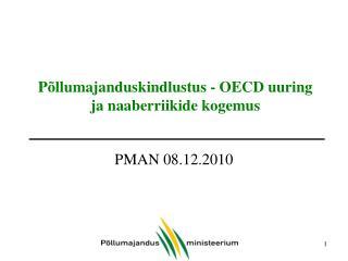 Põllumajanduskindlustus - OECD uuring ja naaberriikide kogemus