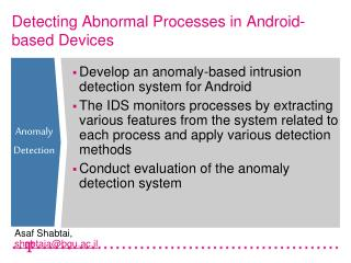 Detecting Abnormal Processes in Android-based Devices