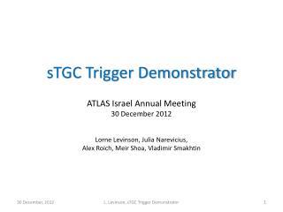 sTGC trigger demonstrator