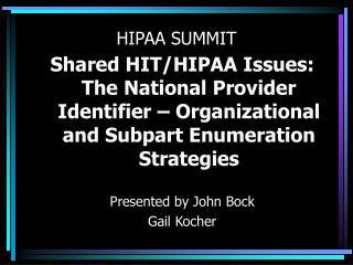 HIPAA SUMMIT