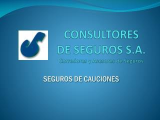 CONSULTORES DE SEGUROS S.A. Corredores y Asesores de Seguros