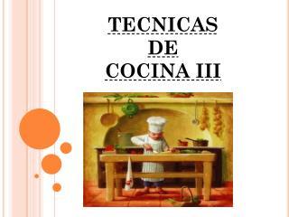 TECNICAS  DE  COCINA III
