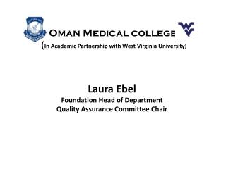 Laura Ebel Foundation Head of Department Quality Assurance Committee Chair