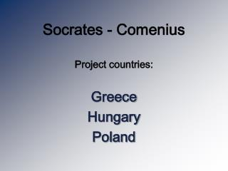Socrates - Comenius
